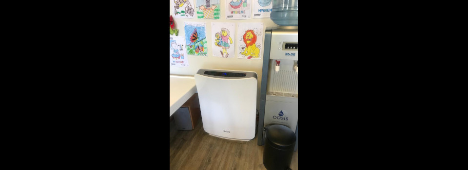 We have purchased air purifiers in the waiting room and surgery to help fight the virus.
